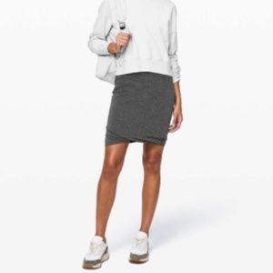 Lululemon Boulevard Bliss Skirt in black & white